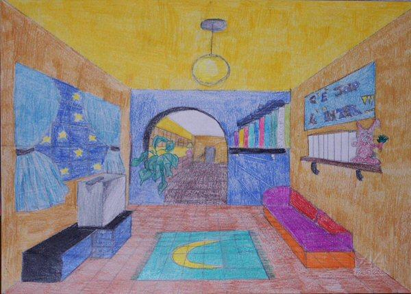 Scuola for Disegno stanza